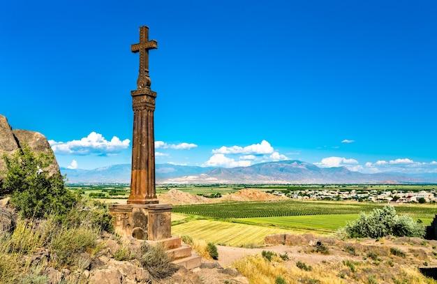 Khor virap, un monastère arménien situé dans la plaine d'ararat