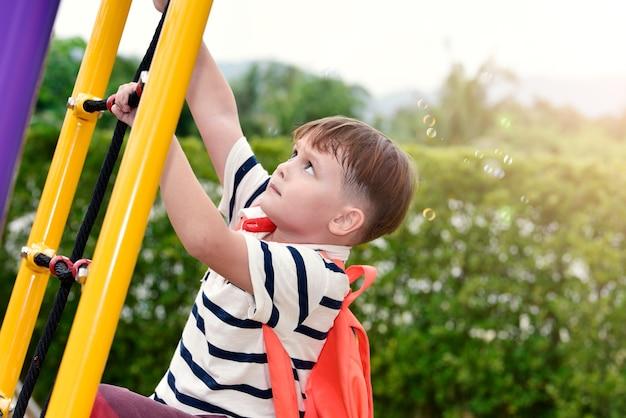 Kid, enfant, école, éducation préscolaire concept