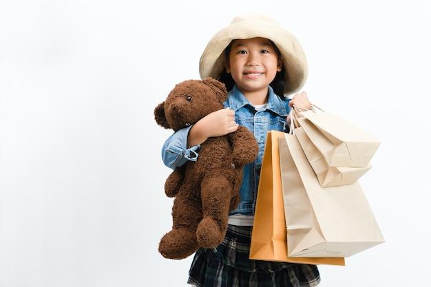 Kid shopping.