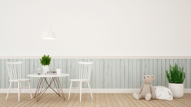 Kidroom ou café design classique moderne - rendu 3d