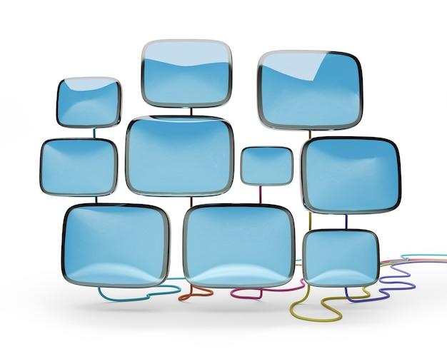 Kinescopes rétro pour récepteurs de télévision, 3d