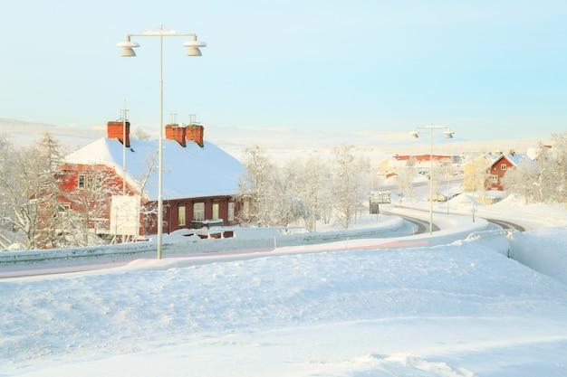 Kiruna cityscape train station
