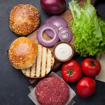 Kit de construction pour hamburger.