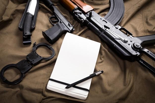 Kit d'équipement militaire moderne de russie