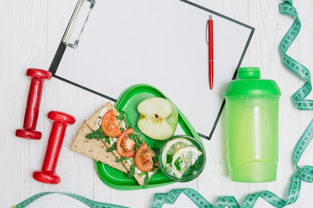 Kit de sport pour un régime sain
