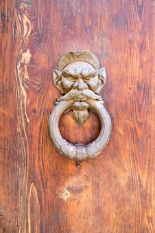 Knoker porte ancienne avec lion