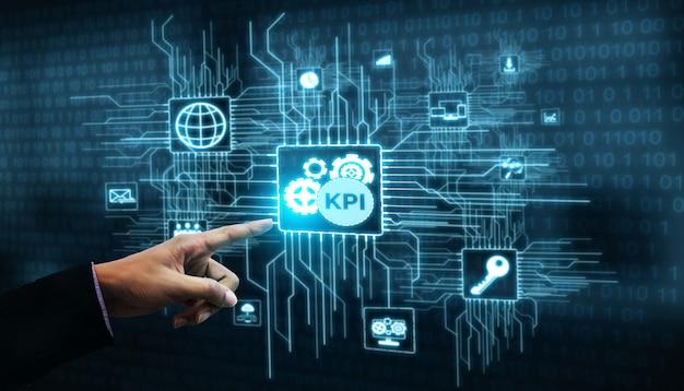 Kpi indicateur de performance clé pour le concept d'entreprise