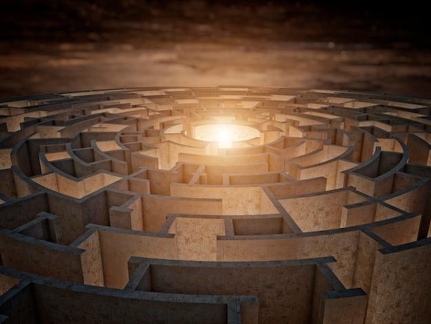 Labyrinthe circulaire 3d