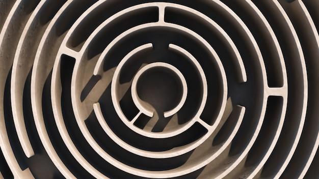 Labyrinthe circulaire. vue d'en-haut