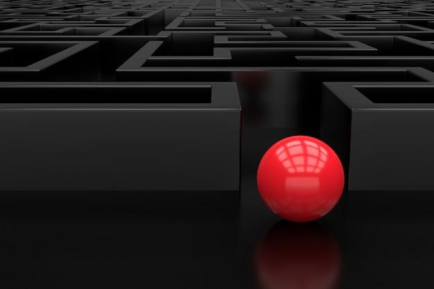 Le labyrinthe. conception d'arrière-plan 3d. rendu 3d.
