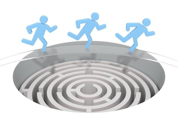 Labyrinthe. graphique rendu par ordinateur pour le concept d'entreprise