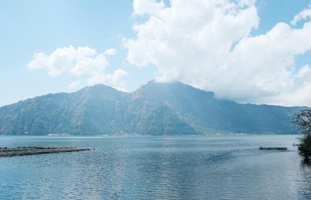 Lac batur, bali, indonésie