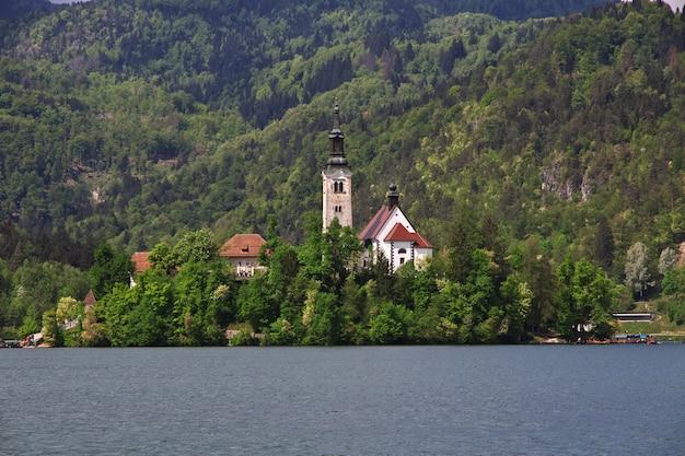 Lac de bled dans les alpes slovènes