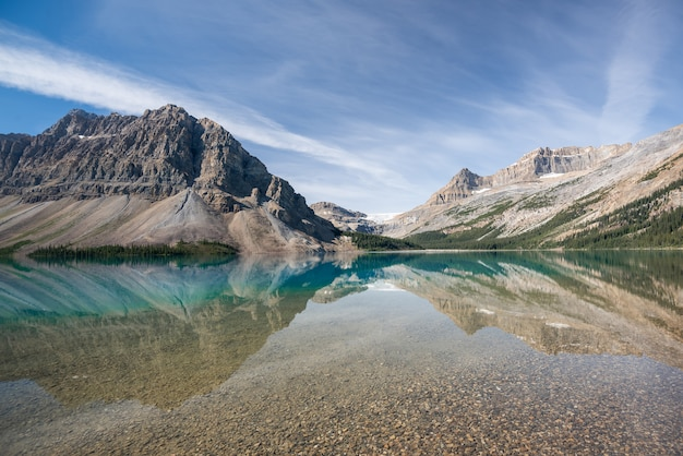 Lac bow, parc national banff, alberta, canada