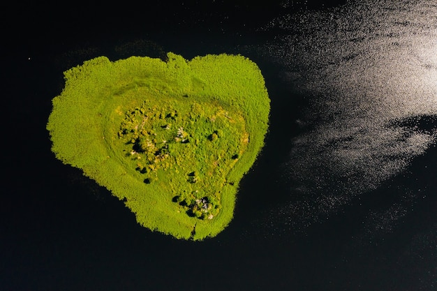Lac drivyaty dans le parc national des lacs braslav