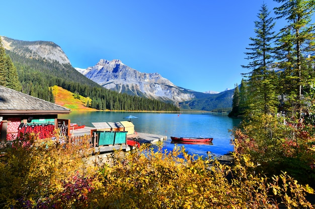 Lac émeraude, parc national yoho, canada