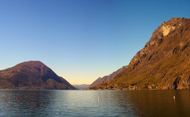 Lac de lugano ou lac de ceresio
