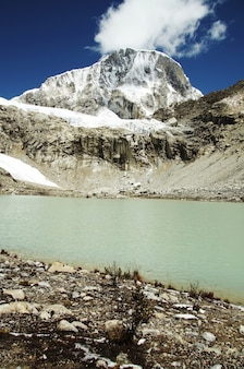 Lac de montagne dans la montagne des cordillères