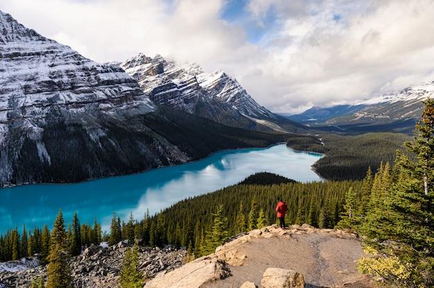 Lac et montagnes sur le parc national
