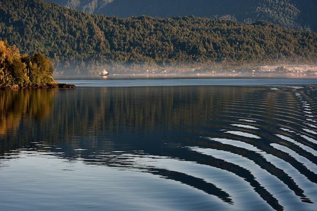 Lac avec réflexion et forêt
