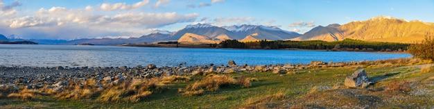 Lac tekapo, paysage de nouvelle-zélande