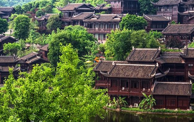Lac de la ville antique en chine