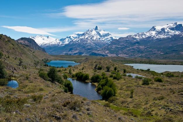Lacs et andes de l'estancia cristina