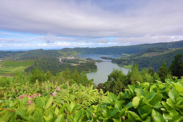 Lagoa das 7 cidades (lagune des sept villes) - açores - portugal