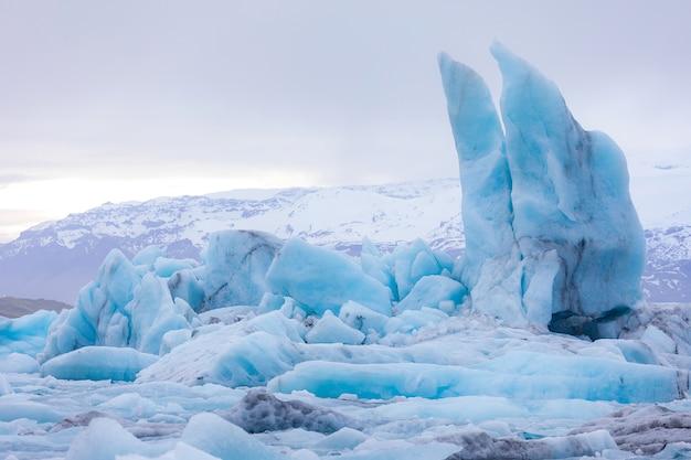 Lagon de jokulsarlon en islande