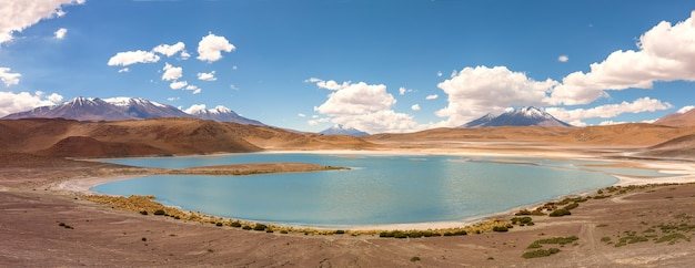 Laguna honda panorama, les andes entre la bolivie et le chili