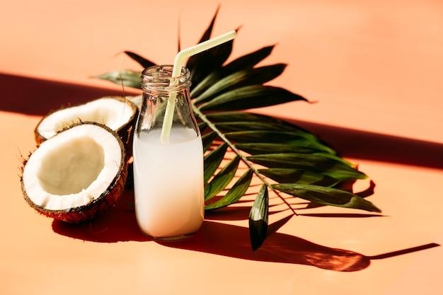 Lait de coco et noix de coco