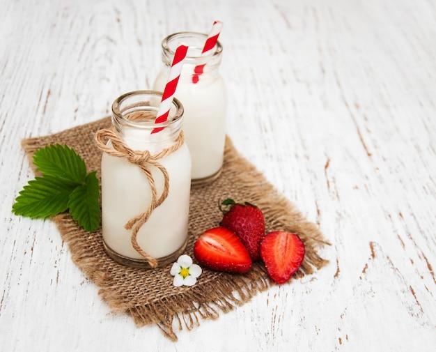 Lait et fraises