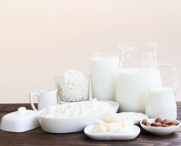 Lait, fromage cottage et produits laitiers