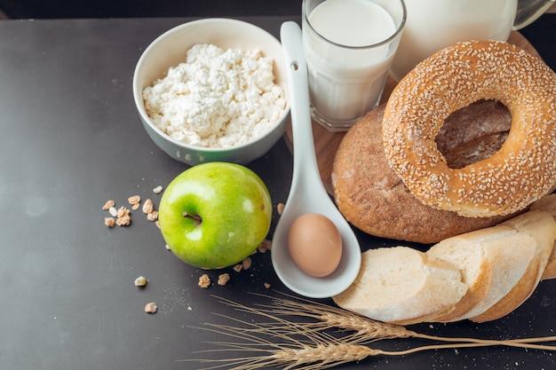 Lait et produits de boulangerie