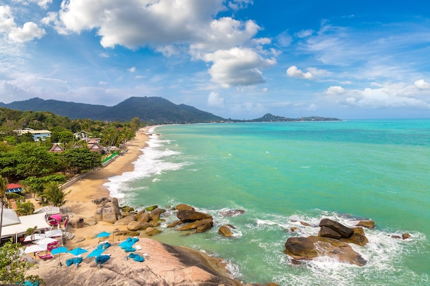Lamai beach sur l'île de koh samui en thaïlande