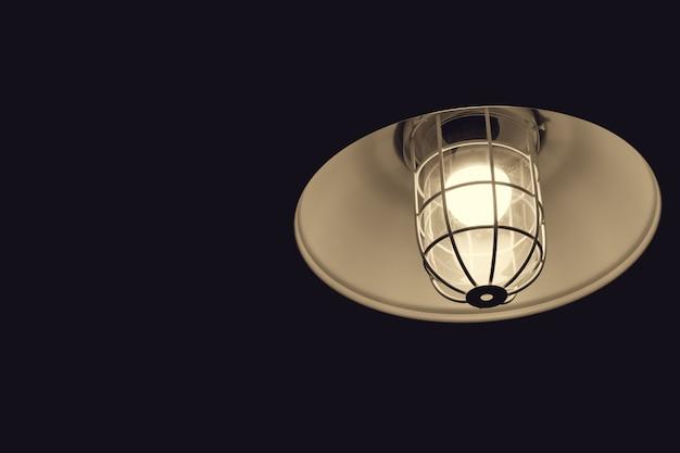 Lampe ampoule de style rétro closeup, décoration intérieure de style loft