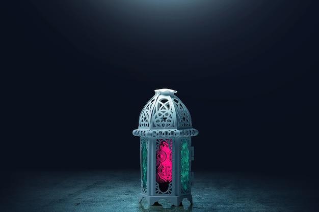 Lampe arabe avec lumière colorée