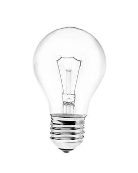 Lampe à incandescence ampoule isolée sur surface blanche