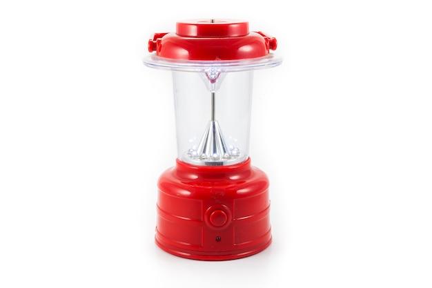 Lampe led rouge sur fond blanc
