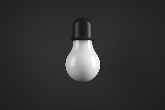 Lampe suspendue. ampoule à économie d'énergie.