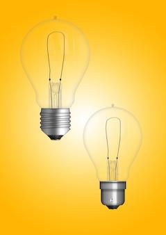 Lampe à suspension avec ampoule isolée sur une surface colorée