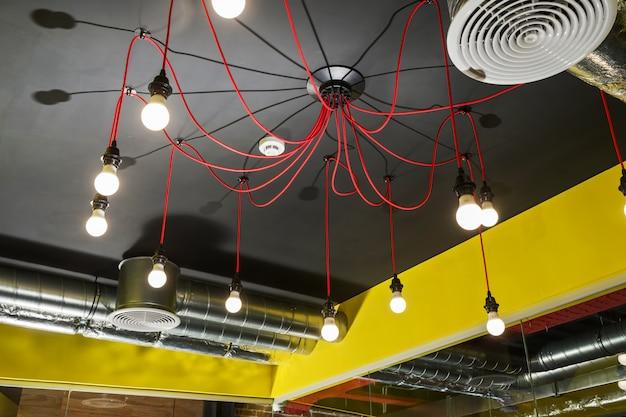 Lampes au plafond