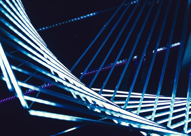 Lampes bleues modernes