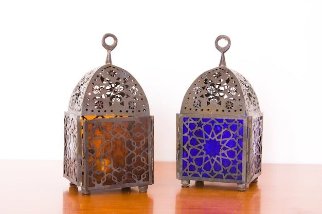 Lampes égyptiennes - deux pièces