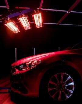 Lampes infrarouges pour le séchage des pièces de carrosserie après l'application du revêtement save gloss