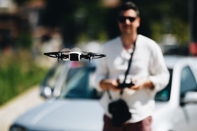 Lancer et voir quadricoptère, drone