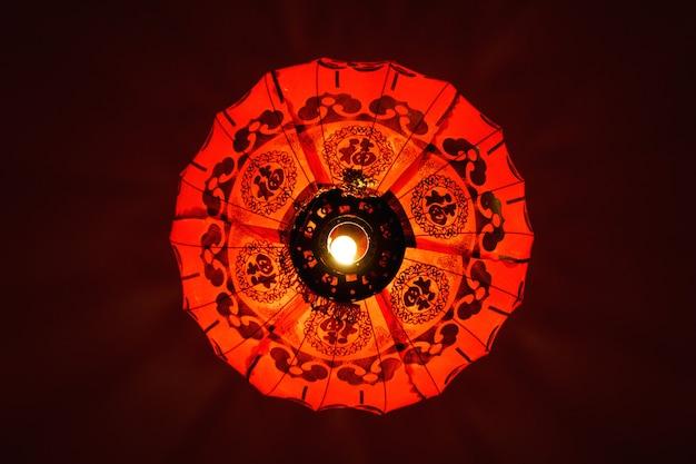 Lanterne chinoise rouge, symbole de la chine