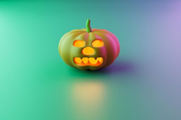 Lanterne de jack de tête de citrouille d'halloween, rendu d'illustration 3d