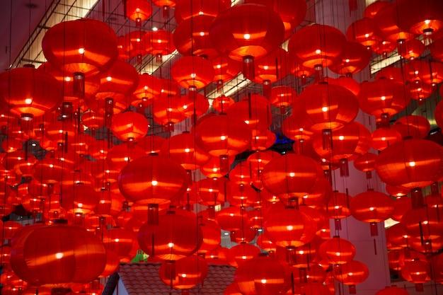 Lanterne rouge chinoise comme symbole du nouvel an.