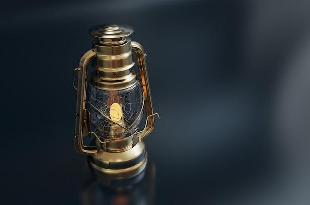Lanterne de style ancien avec espace copie